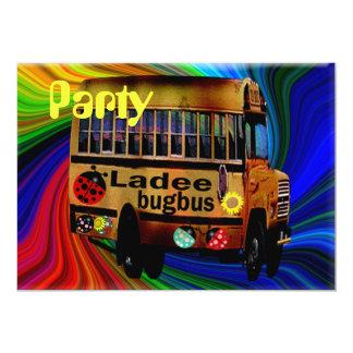 "Ladee Bugbus 5"" X 7"" Invitation Card"