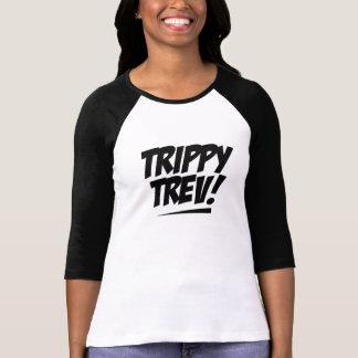Ladies 3/4 Sleeve Raglan Trippy Trev T-Shirt