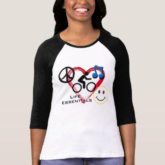 "Ladies' 3/4 T-shirt, ""Life Essentials"" T-Shirt"