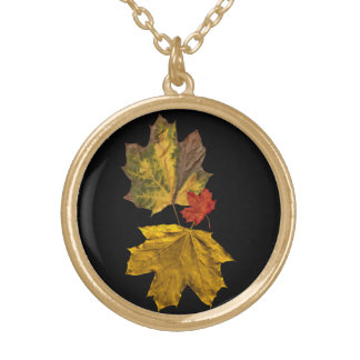 Ladies accessories autumn leaf necklace