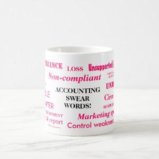 Ladies Accounting Swear Words!! Pink 'n' black Classic White Coffee Mug