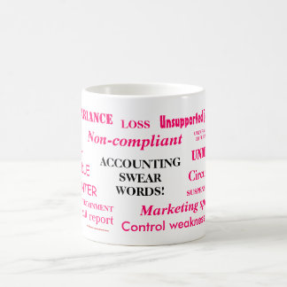 Ladies Accounting Swear Words!! Pink 'n' black Coffee Mug