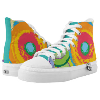 Ladies ankle pumps with zip off design high tops
