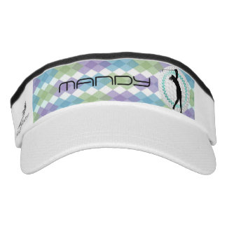 Ladies Argyle Golf Ball•Wreath•Custom Visor