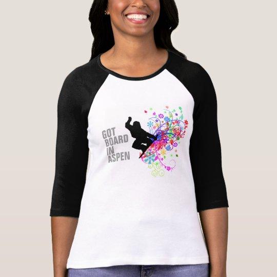 Ladies Aspen Snowboard tshirt