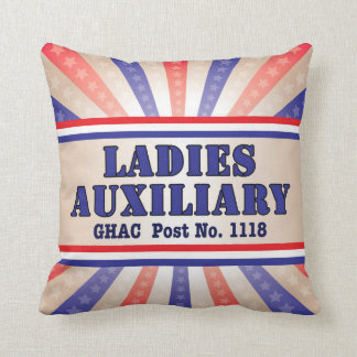 Ladies Auxiliary Patriotic Pillow by Andy Mathis