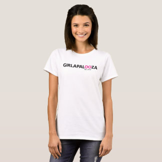 Ladies basic white T -- 10-year logo T-Shirt