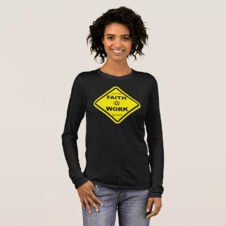 ladies' black faith at work long sleeve long sleeve T-Shirt