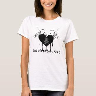 Ladies Black Heart T T-Shirt