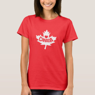 Ladies Canadian graphic top