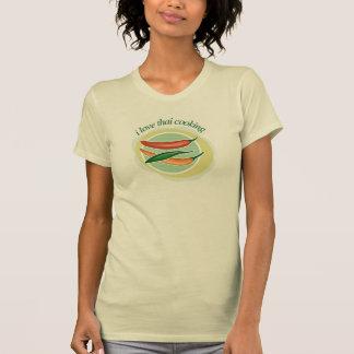 "Ladies Casual Scoop, White ""I Love Thai Cooking"" T-Shirt"
