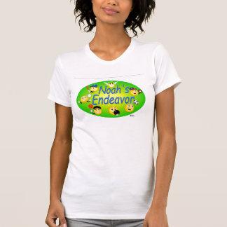 Ladies Casual Scoop White T-Shirt
