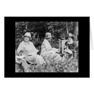 Ladies Champagne Luncheon 1924 Greeting Card
