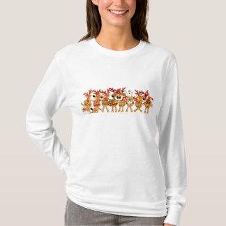 Ladies Christmas Singing Reindeer Long Sleeve Top