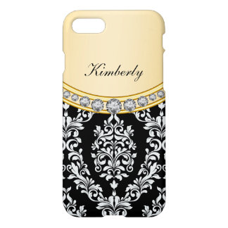 Ladies Classy Damask Bling iPhone 7 Case