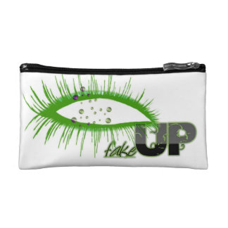 "Ladies Cosmetic ""FakeUP' Bag - Green Makeup Bags"