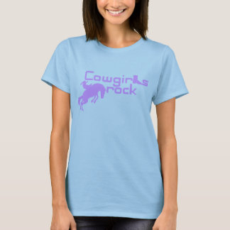 Ladies Cowgirls Rock Baby Doll Fitted T-Shirt