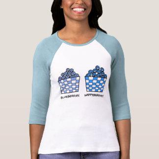 Ladies Cute Funny Blueberries Lovers Tee Shirt