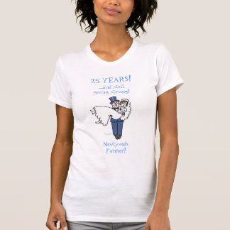 Ladies Cute Funny Silver Anniversary Shirt