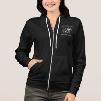 Ladies Dark Sweat Shirt with zipper