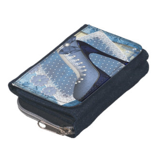 Ladies Denim Wallet