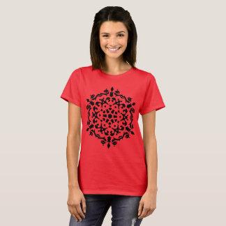 Ladies designers t-shirt Exotic mandala