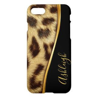 Ladies Elegant Faux Leopard Skin Monogram iPhone 8 iPhone 8/7 Case