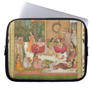 Ladies feasting, from the Small Clive Album Laptop Sleeve