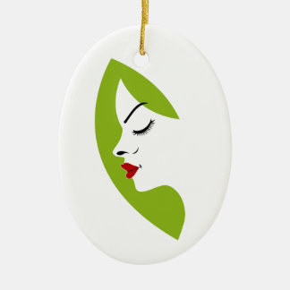 ladies fertility ceramic ornament