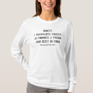 Ladies Fitted Hoodie with honesty Definition
