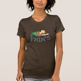 Ladies Fitted T, Brown T-Shirt