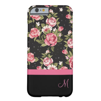 Ladies Floral Monogram Design Barely There iPhone 6 Case