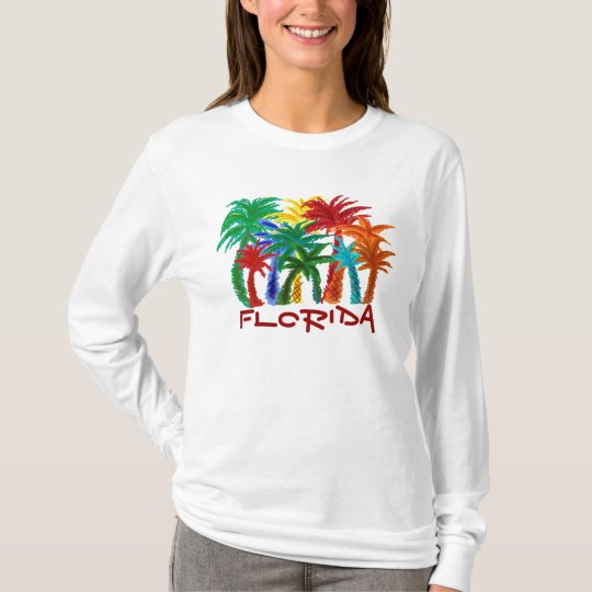 Ladies Florida palm tree hoodie