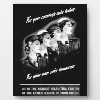 Ladies Go to The Nearest Recruiting Station Plaque