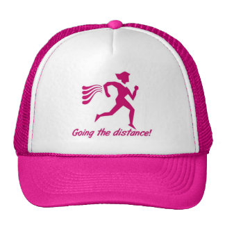 LADIES GOING THE DISTANCE RUNNING CAP TRUCKER HAT