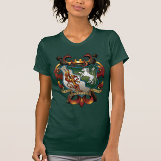 Ladies Green Coat-of-Arms Tee