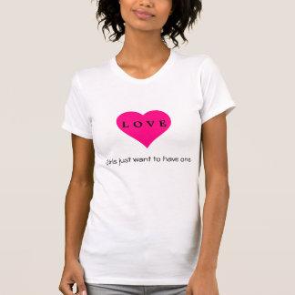 Ladies heart Tee shirt