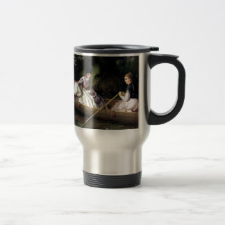 Ladies in a Boat painting Travel Mug