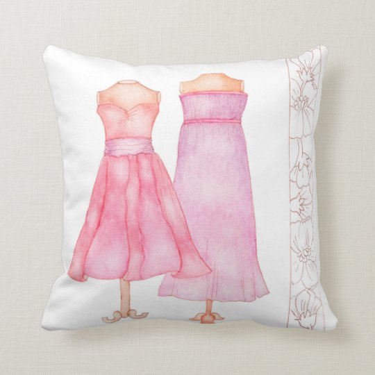 Ladies in pink fashion style cushion