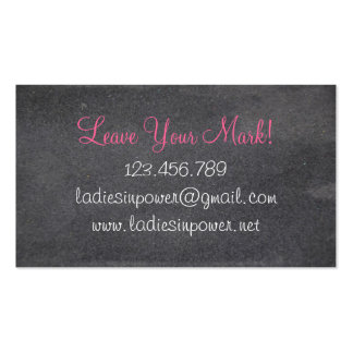 Ladies In Power Business Card Template