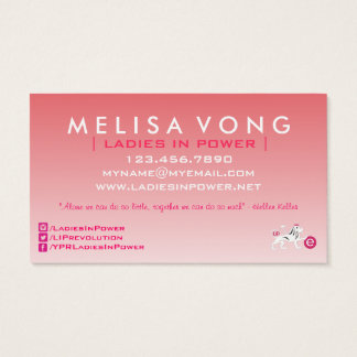 Ladies In Power Modern Business Card