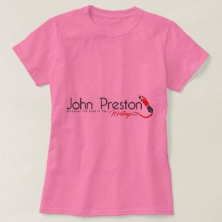 Ladies John Preston Writings Pink Tee