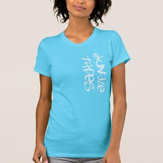 Ladies Jungle Tapes T-Short Aqua T-Shirt