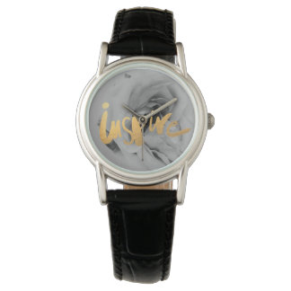 Ladies leather wrist-watch clock Inspire Watch
