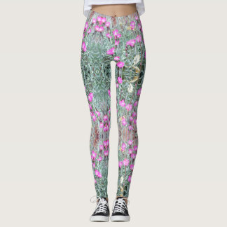 Ladies Leggings Pink Dianthus