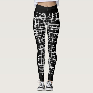 Ladies Leggins with print - black Leggings