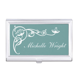 Ladies Monogram Business Card Holders