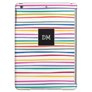 Ladies Monogram Moxern Stripes Pattern iPad Air Covers