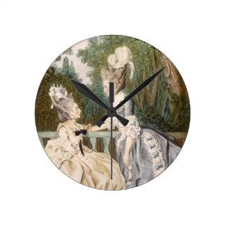 Ladies' Morning Dress, 1771 (colour engraving) Clocks