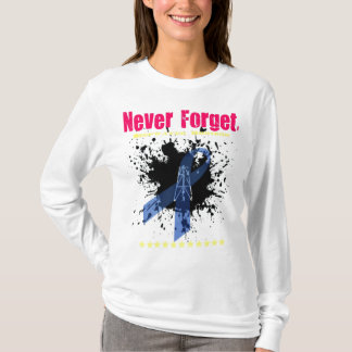 Ladies' 'Never Forget-DWH' fitted hoodie